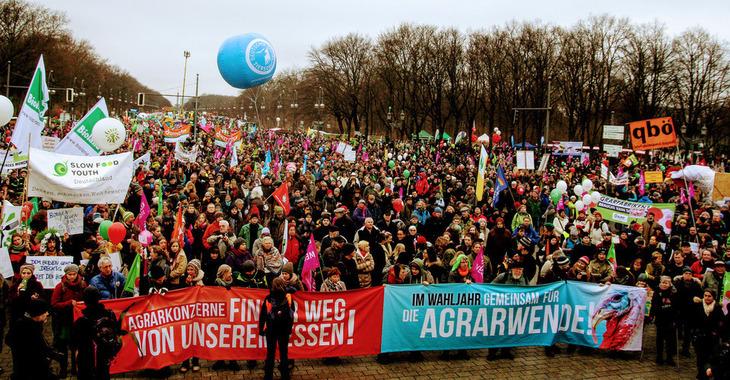 """20. Januar 2018 in Berlin: """"Wir haben es satt!"""" Demo in Berlin"""